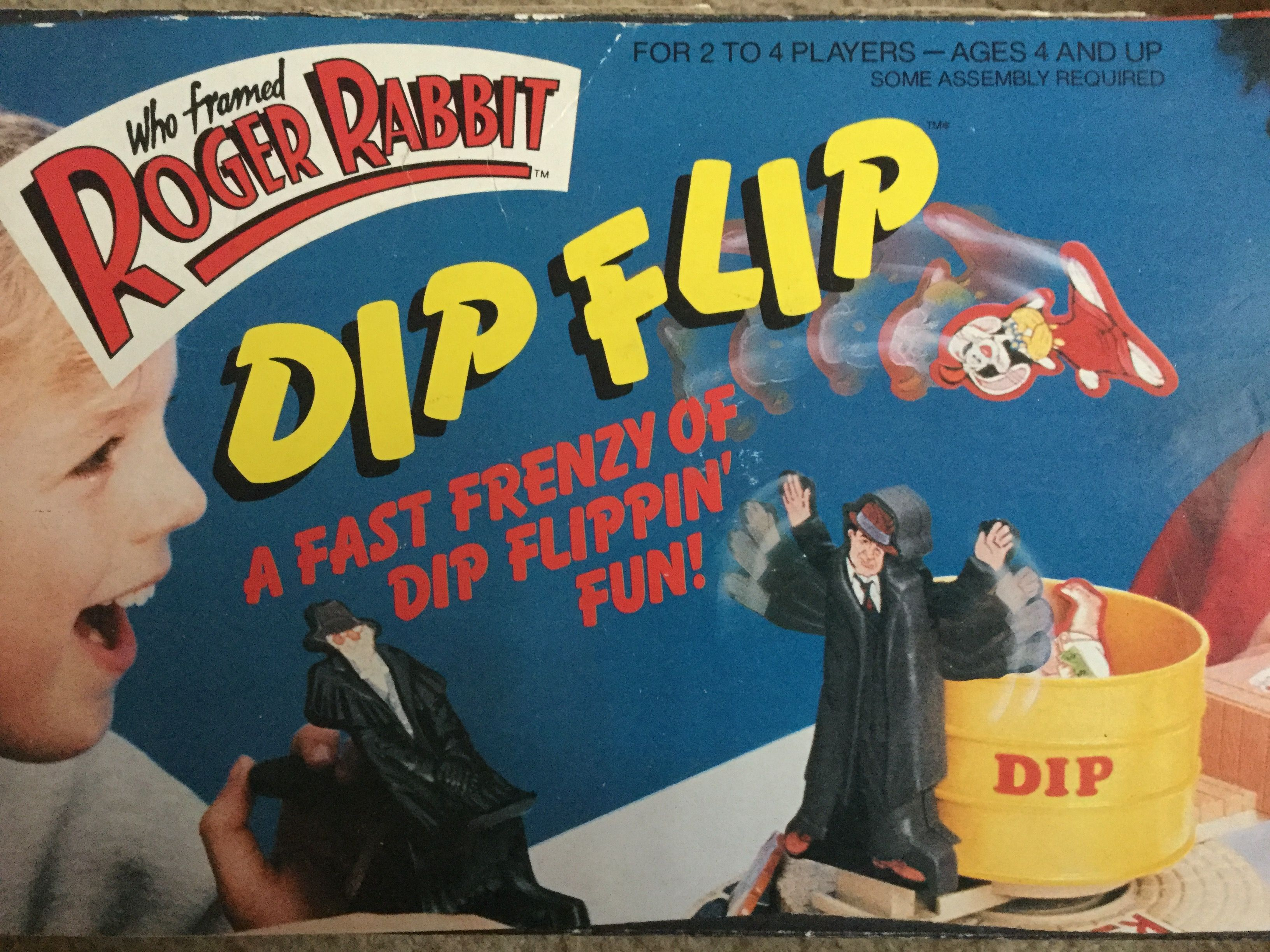 Dip Flip Who Framed Roger Rabbit Game. All pieces are there. The ...