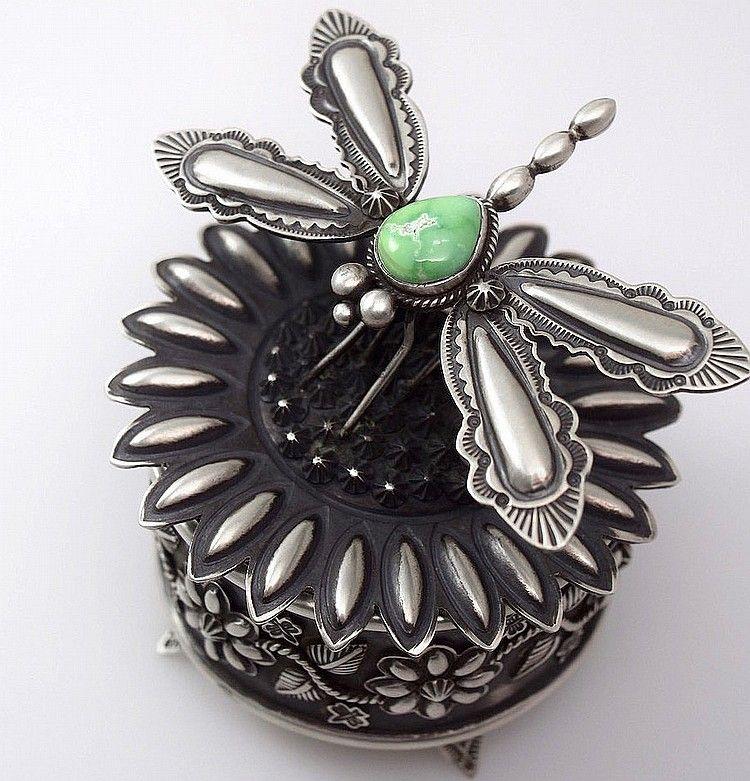 Darrell Cadman DragonFly Jewelry Box Navajo Native American Indian