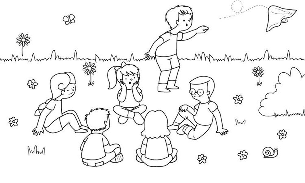 Dibujo Del Juego Del Panuelo Dibujos Para Colorear Colorear Gratis Dibujos
