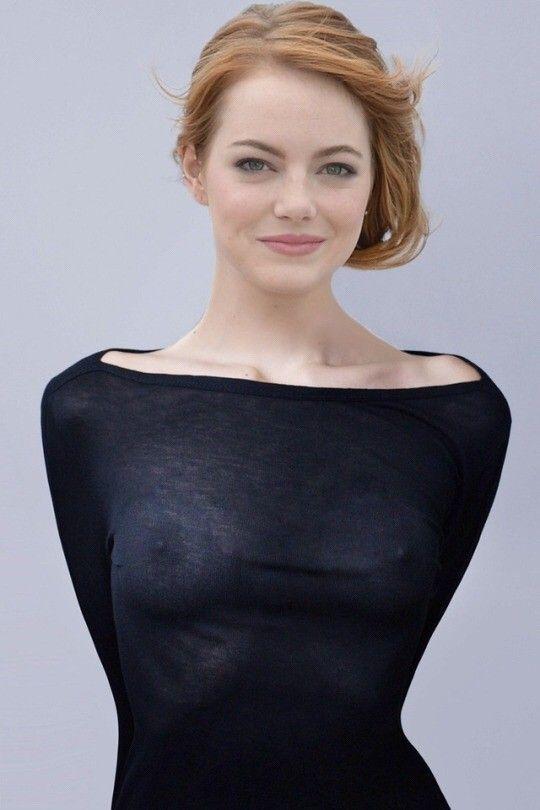 emma stone nipple
