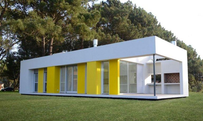 Fachadas de casas pintadas en blanco y amarillo casas - Fachadas de casas pintadas ...