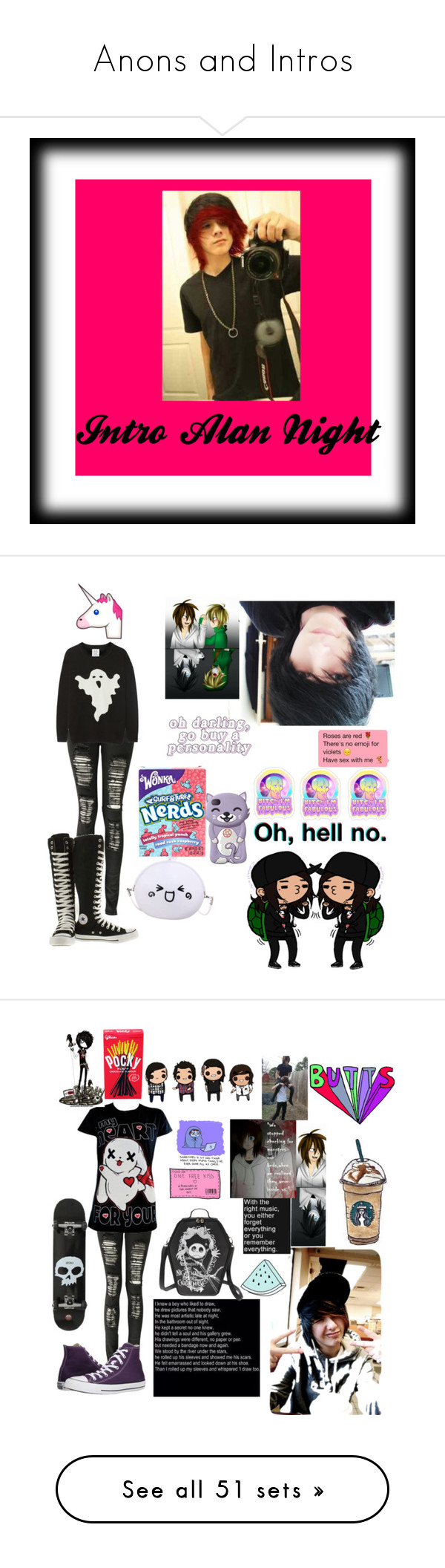 """Anons and Intros"" by dontforgetthesun ❤ liked on Polyvore featuring mens, men, men's wear, mens wear, male, mens clothing, mens fashion, Boohoo, Zoe Karssen and Converse"
