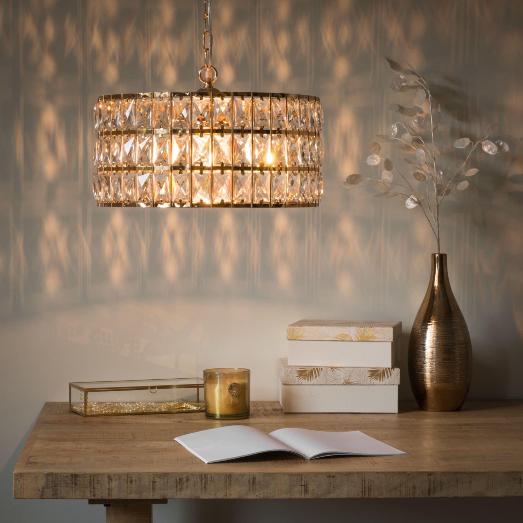 Suspension en métal doré et brillants Dubai  Hanglamp, Kruk stoel