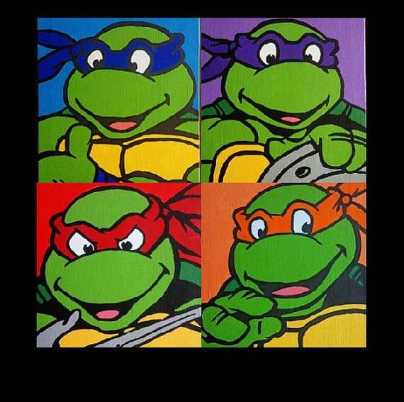 Teenage Mutant Ninja Turtles Hand Painted Acrylic On Canvas Etsy Teenage Mutant Ninja Turtles Art Ninja Turtles Canvas Ninja Turtles Canvas Painting