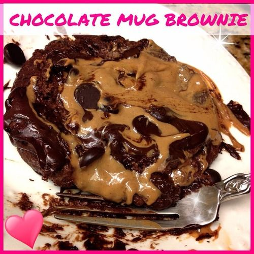 GUILT-FREE Rich Chocolate, Peanut Butter, Protein Mug Brownie! You won't believe this is healthy!