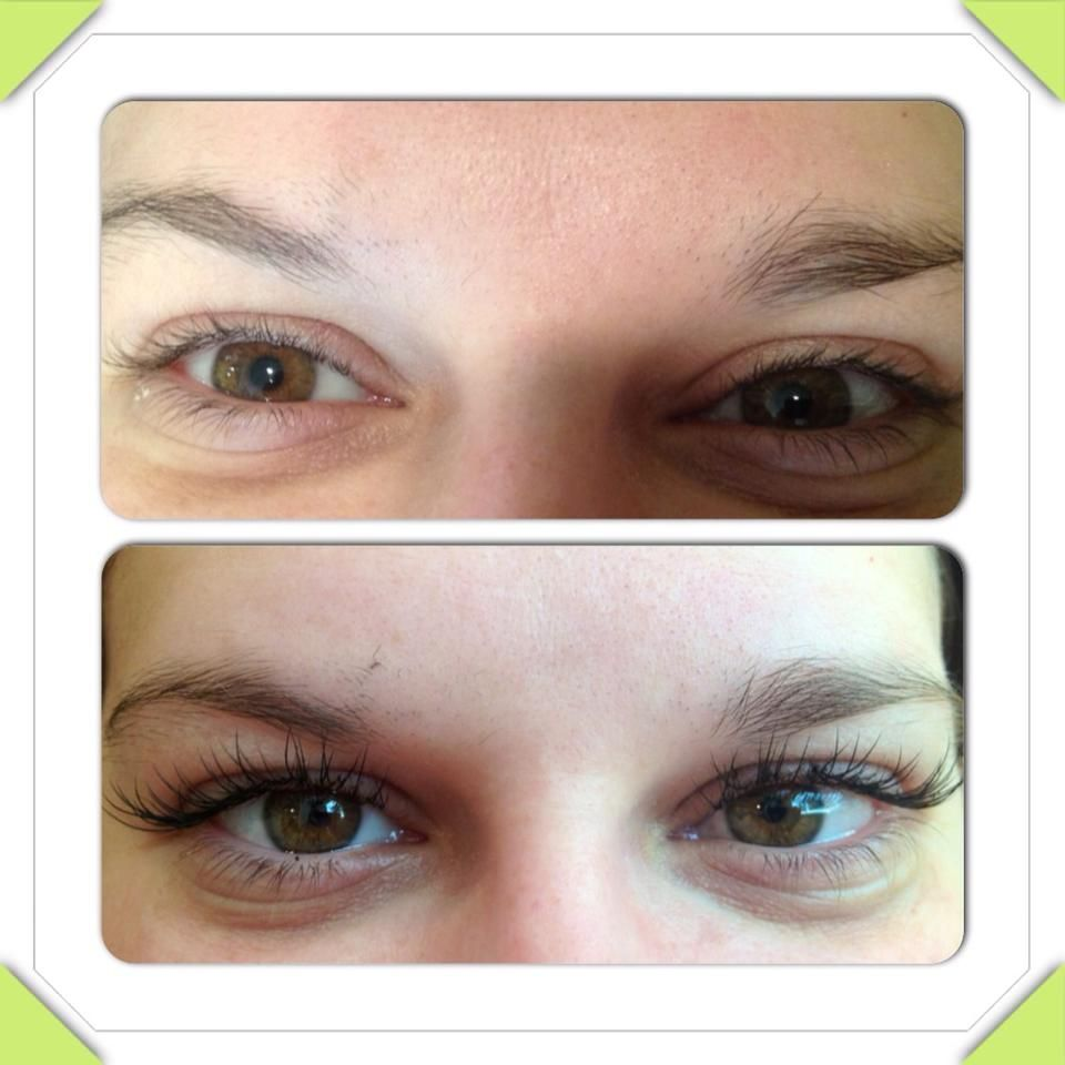 Before & After - Eyelash perm & tint. Available at Wild on Cherry ...
