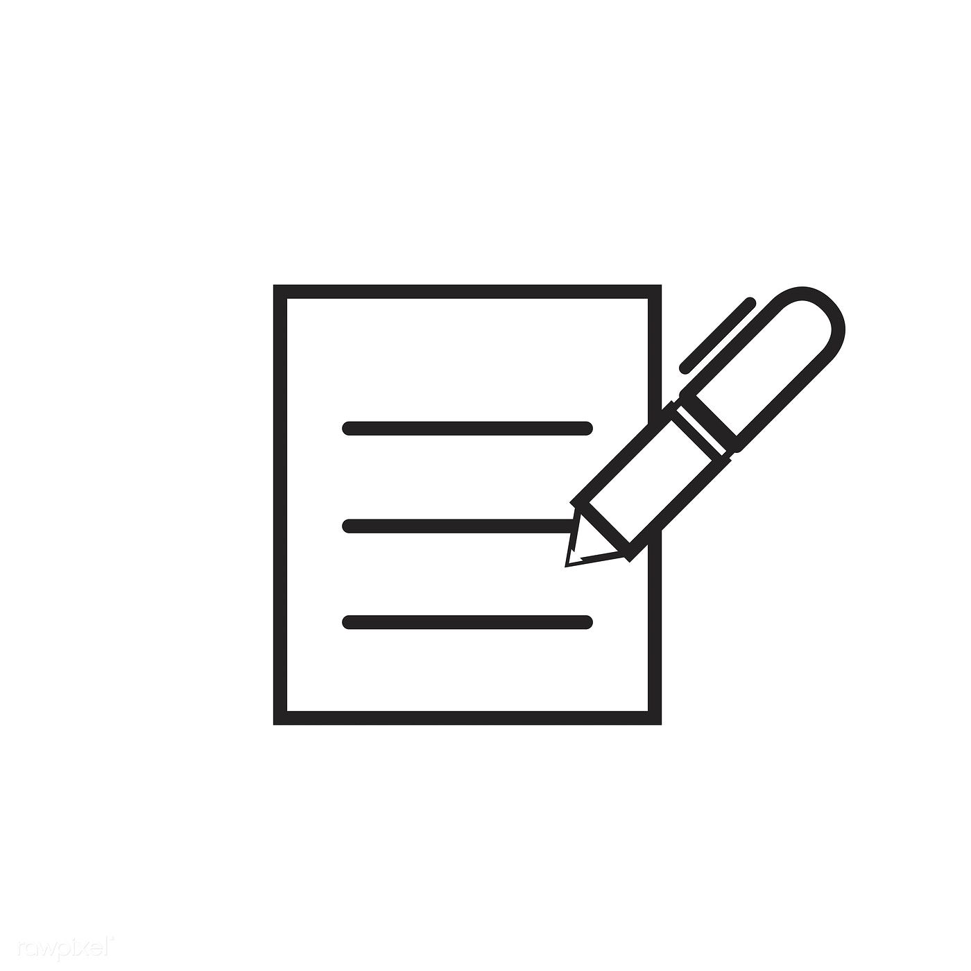 Pen Signing On A Form Icon Vector Free Image By Rawpixel Com