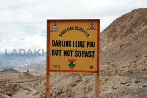 Leh Ladakh India Road Signs Border Road Organisation Road Signs