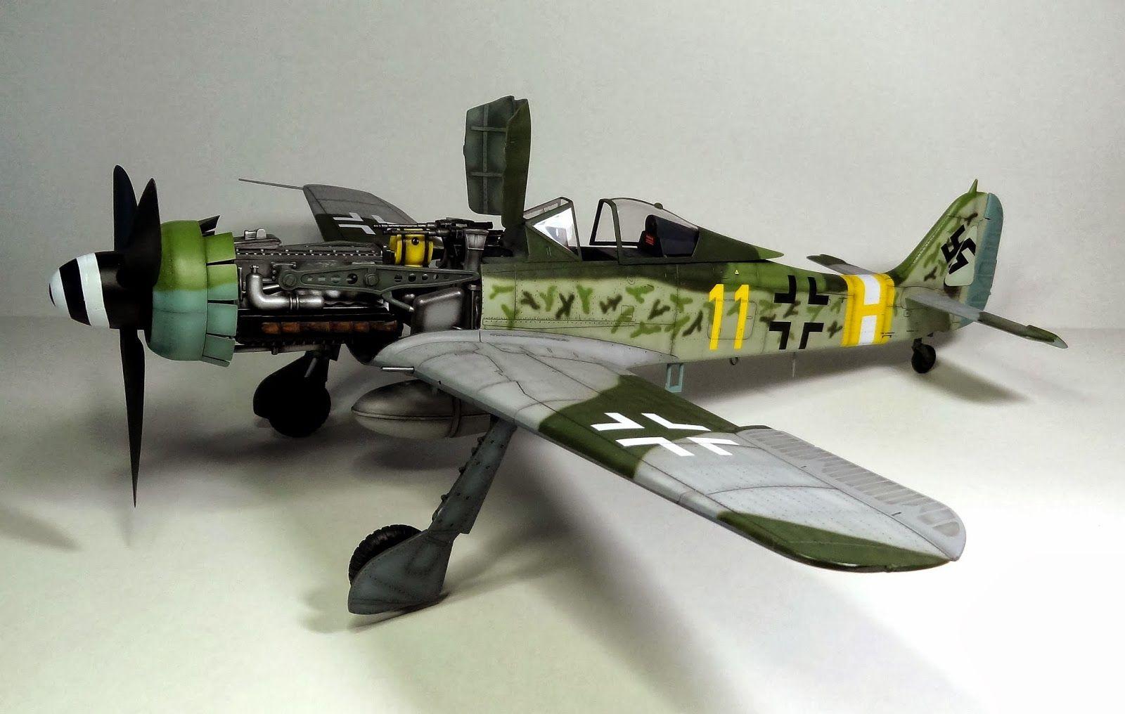 WW2 Focke Wulf Fw 190D-9 Model Aircraft 1//72 Aircraft