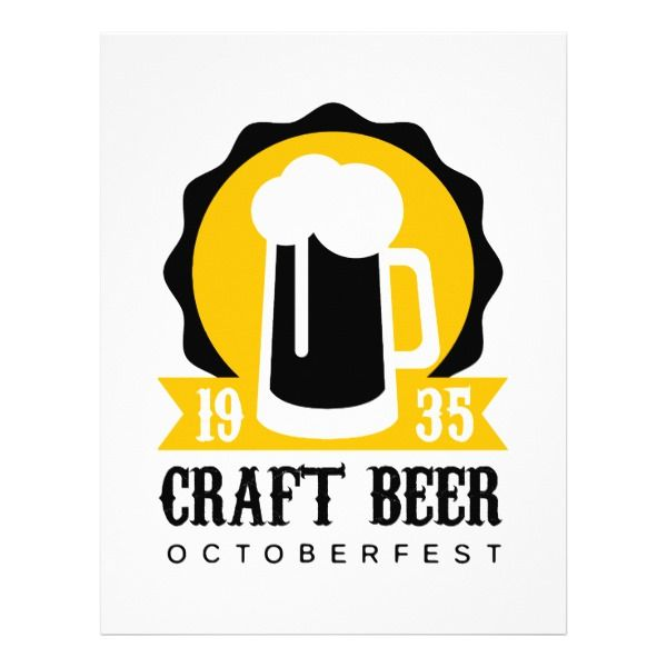 Craft Beer Logo Design Template With Pint Letterhead Beer logo - office supply template