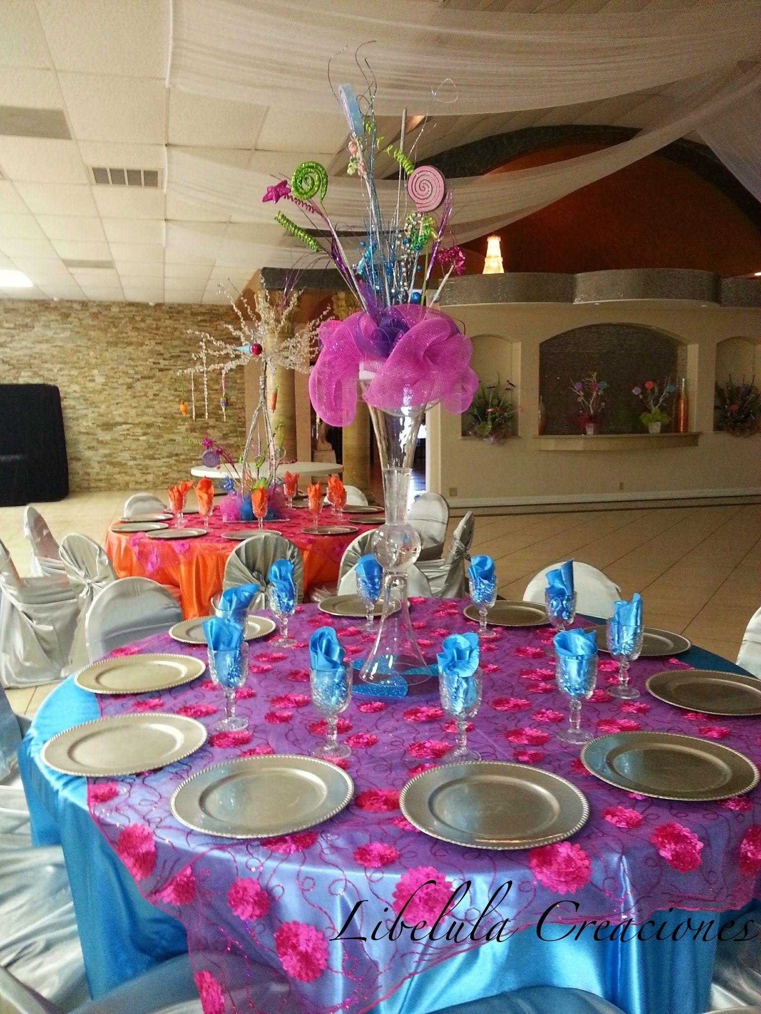 Quinceanera tema candy land centro de mesa quincea eras for Decoracion de quinceanera