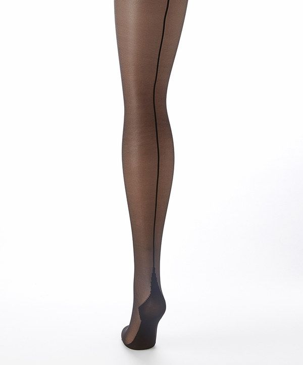 Look at this Philippe Matignon Black Sheer Collant Amiable Tights - Women on #zulily today!