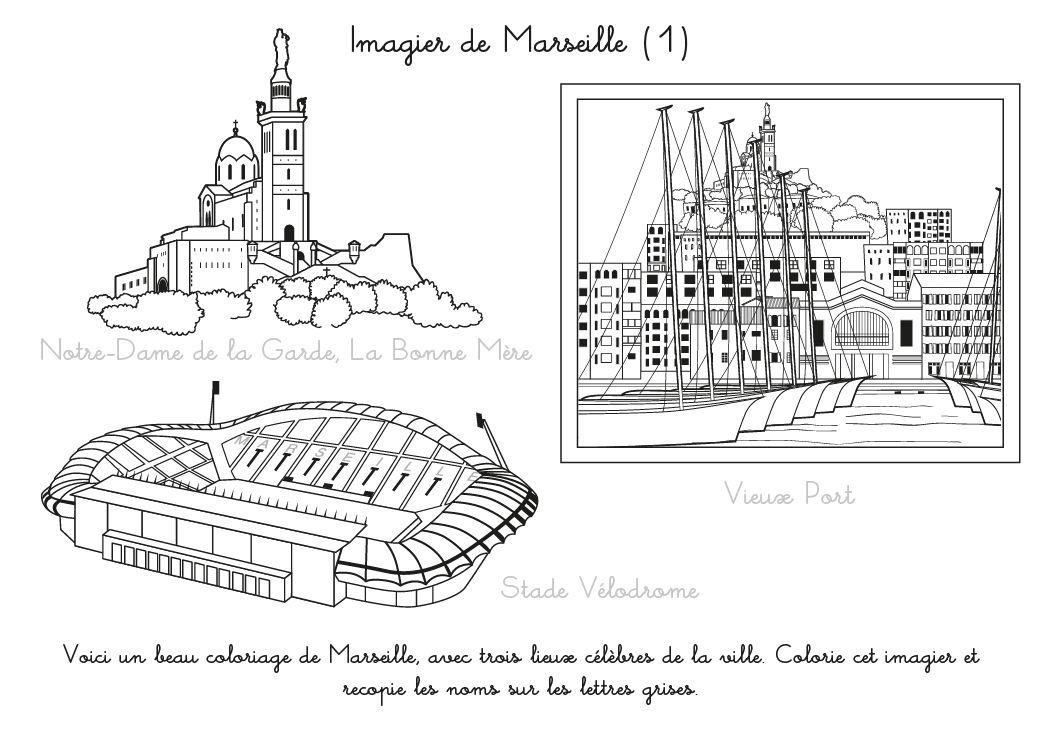Coloriages De Marseille 1 Familiscope Coloriage à