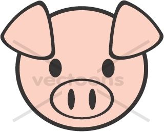 31++ Pig head clipart black and white info