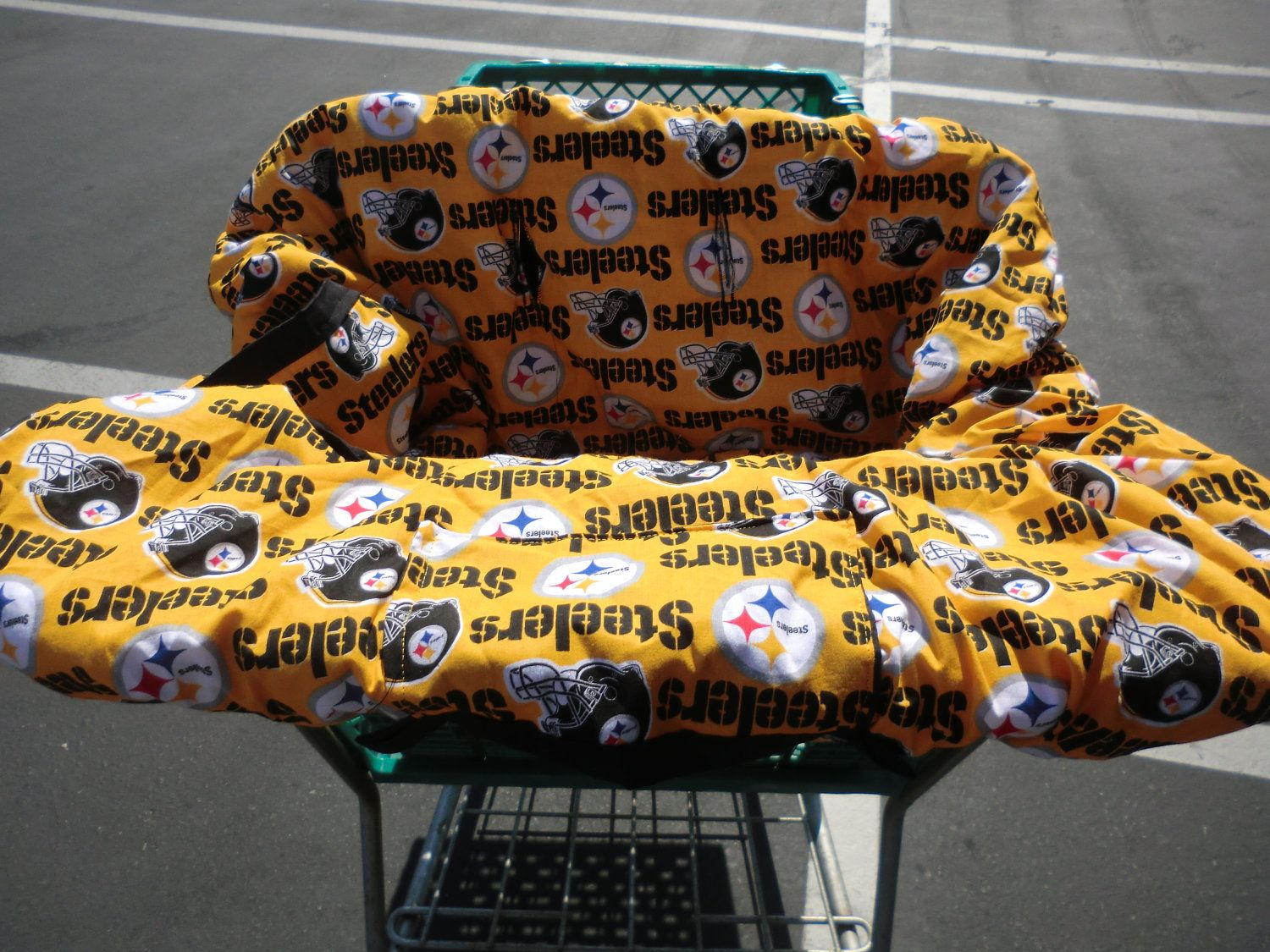 Pittsburgh Steelers Shopping Cart/High Chair By TooterBugDesignss, $55.50