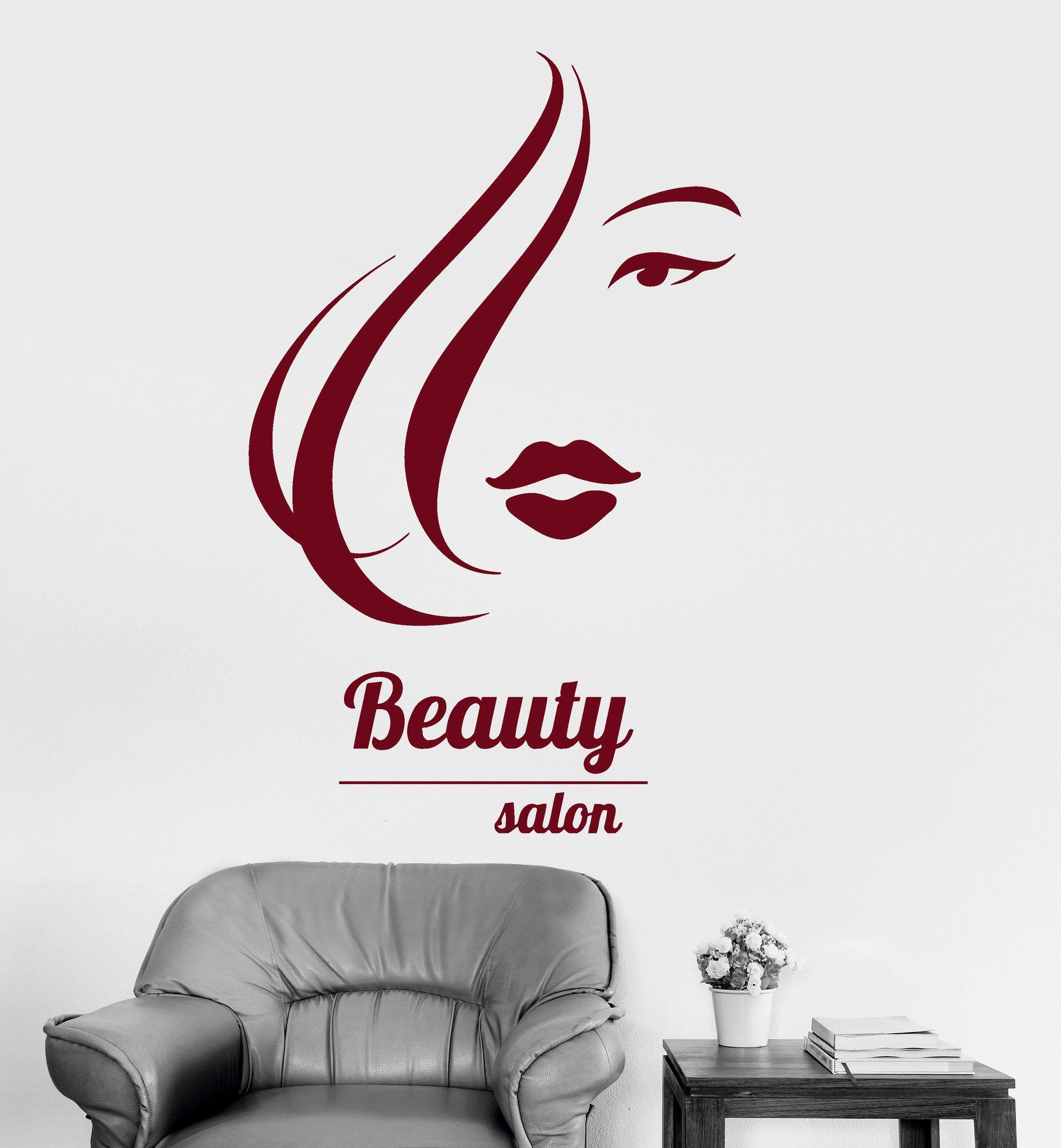 vinyl wall decal beauty salon hair spa hairdresser woman girl vinyl wall decal beauty salon hair spa hairdresser woman girl stickers ig3250