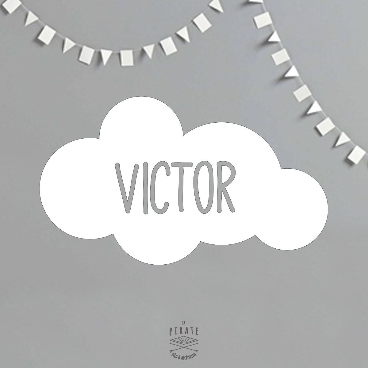 Id e cadeau no l le stickers nuage personnalis 30x18cm chambre b b chambre d 39 enfant de - Stickers chambre bebe nuage ...