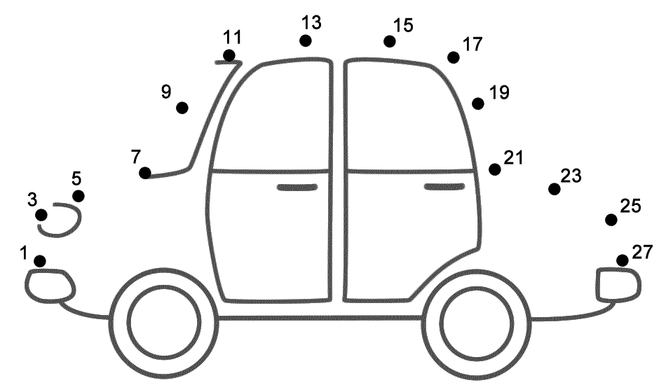 Car - Connect The Dots (count By 2's