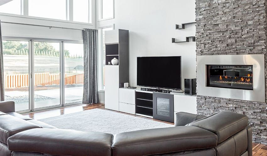Living Room Arrangement With Tv And Fireplace In 2020 Living Room Arrangements Living Room With Fireplace Livingroom Layout #tv #arrangement #in #living #room