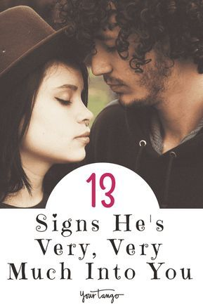 Signs he likes you alot