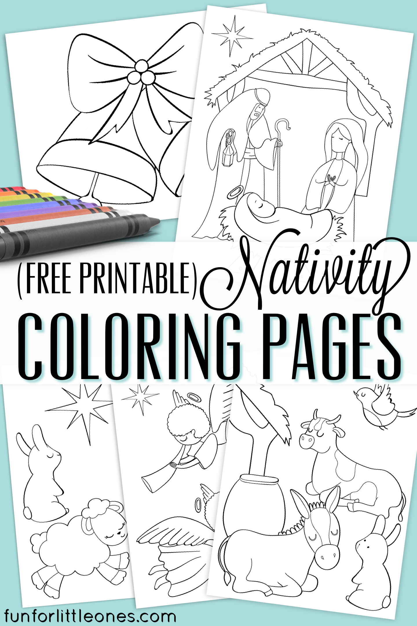 Nativity Coloring Pages for Kids (Free Printable