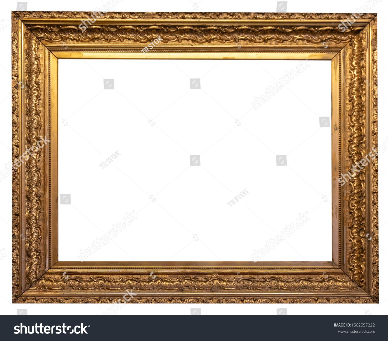 Gold Vintage Beautiful Picture Frame Isolated On White Background Sponsored Affiliate Beautiful Picture Gold Vintage Pop Art Frame Picture Frames