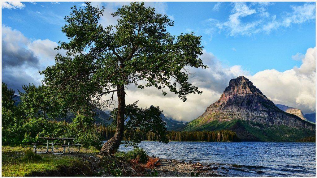 Mountain Lake Beautiful Landscape Wallpaper Hd Mountain Lake