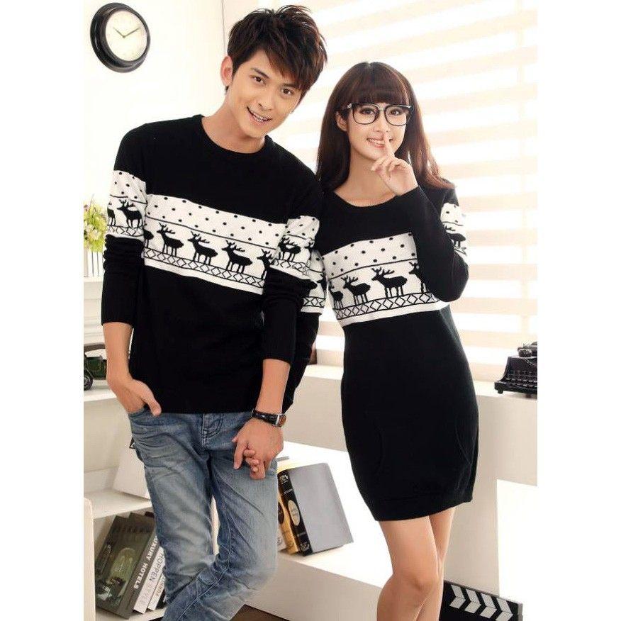 Cute Christmas Gifts For Girlfriend: Cute Girlfriend Boyfriend Matching Winter Jumper For 2