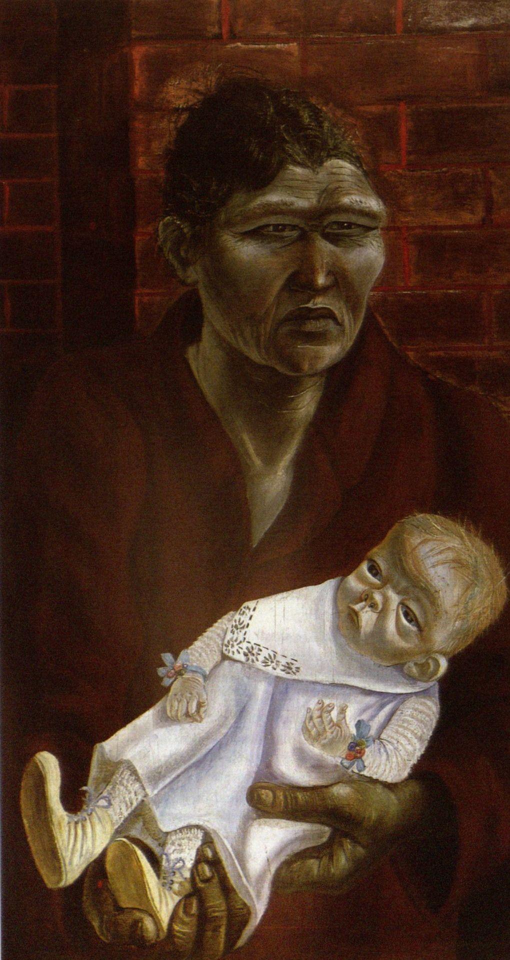 Otto Dix Mutter Und Kind Mother And Child 1923 Deutsche