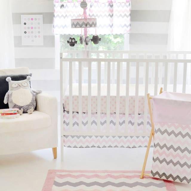 My Baby Sam Chevron Baby Crib Bedding Collection Set in