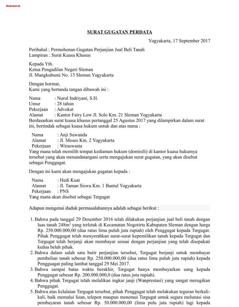 Pin Oleh Yunitadisnaeni Di Tempat Untuk Dikunjungi Surat Hukum Surat Kuasa