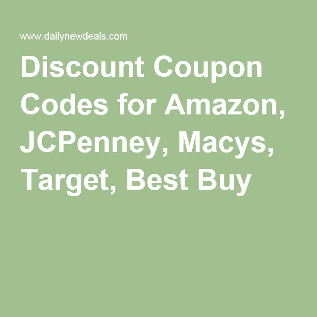 Discount coupon codes for amazon jcpenney macys target best discount coupon codes for amazon jcpenney macys target best buy fandeluxe Gallery