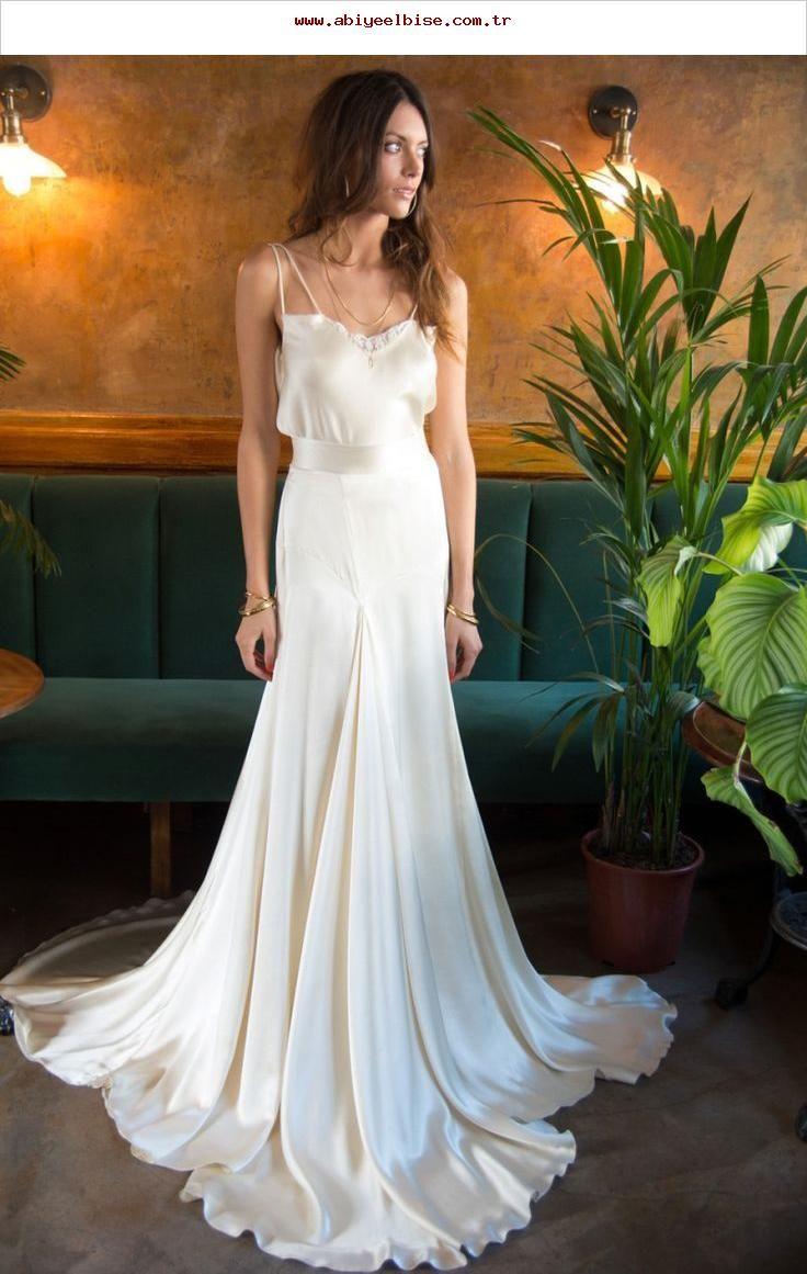 20er und 20er Jahre böhmisch inspiriertes Brautkleid aus dem A