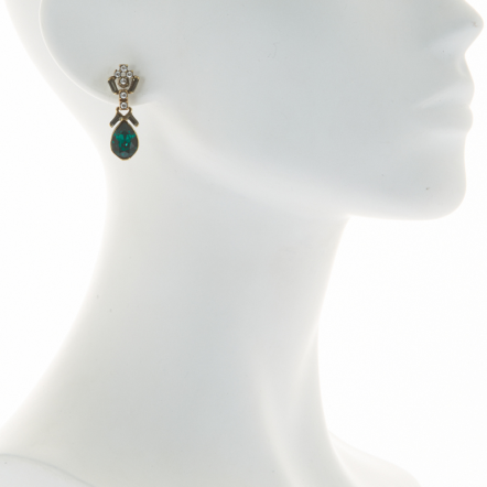 Peter Lang Australia Fleur Emerald crystal earrings