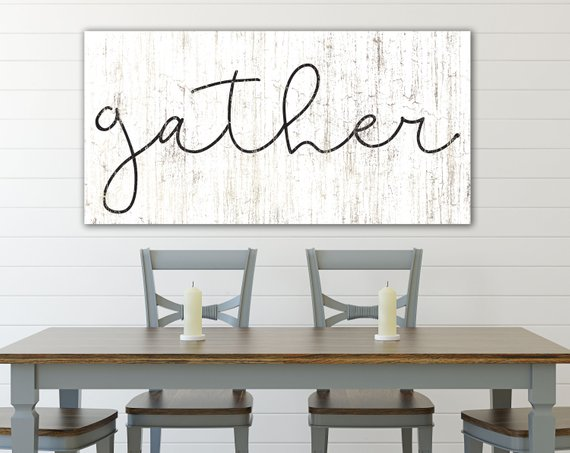 Gather Sign Dining Room Wall Art Gather Wall Art Farmhouse