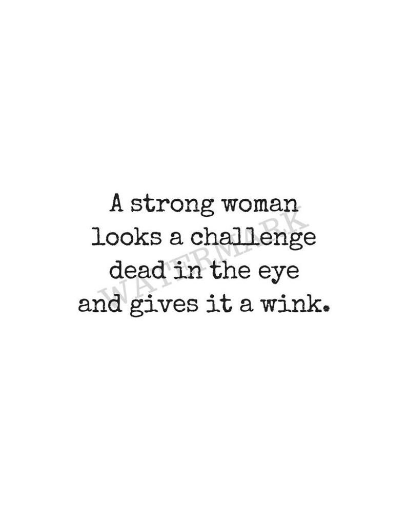 Strong Woman Quote Print Digital Download Printable Art   Etsy