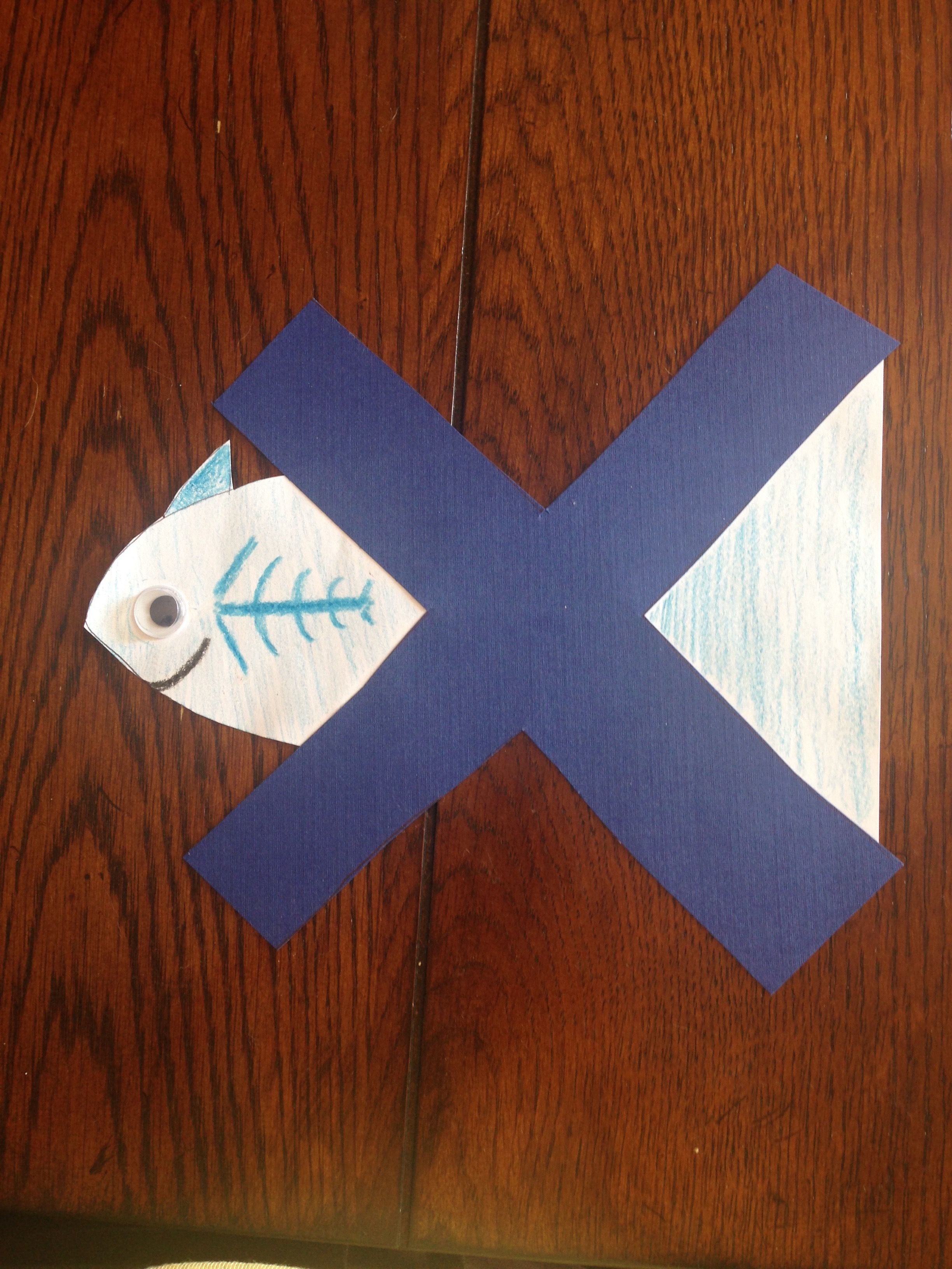 X Is For X Ray Fish X Was Another Tricky One But I Found This One To Be The Most Simple To