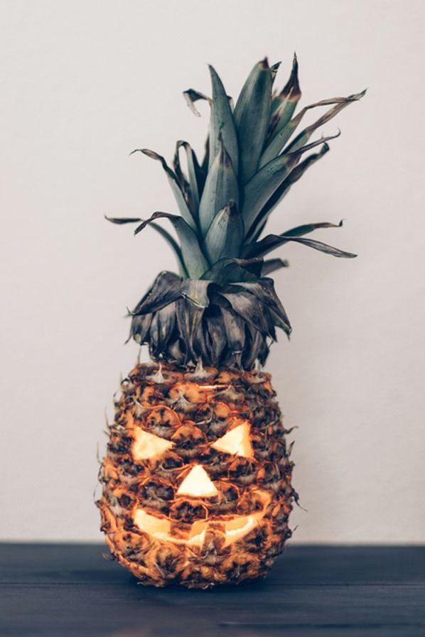 Pineapple Jack-O-Lantern.