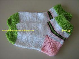 A muito eu procurava uma receita de meia de tricô fácil para tecer com duas  agulhas fea089eabf1