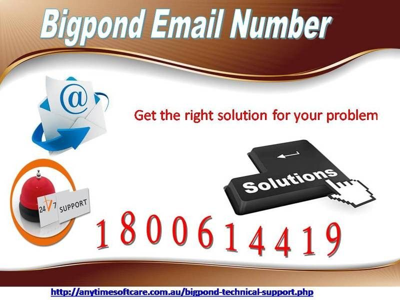 Dial Bigpond Email Number 1 800 614 419 For Email Settings