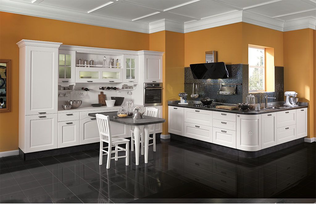 Affordable Kitchen Design Incorporating Open Cabinets Is An Easy & Affordable Kitchen