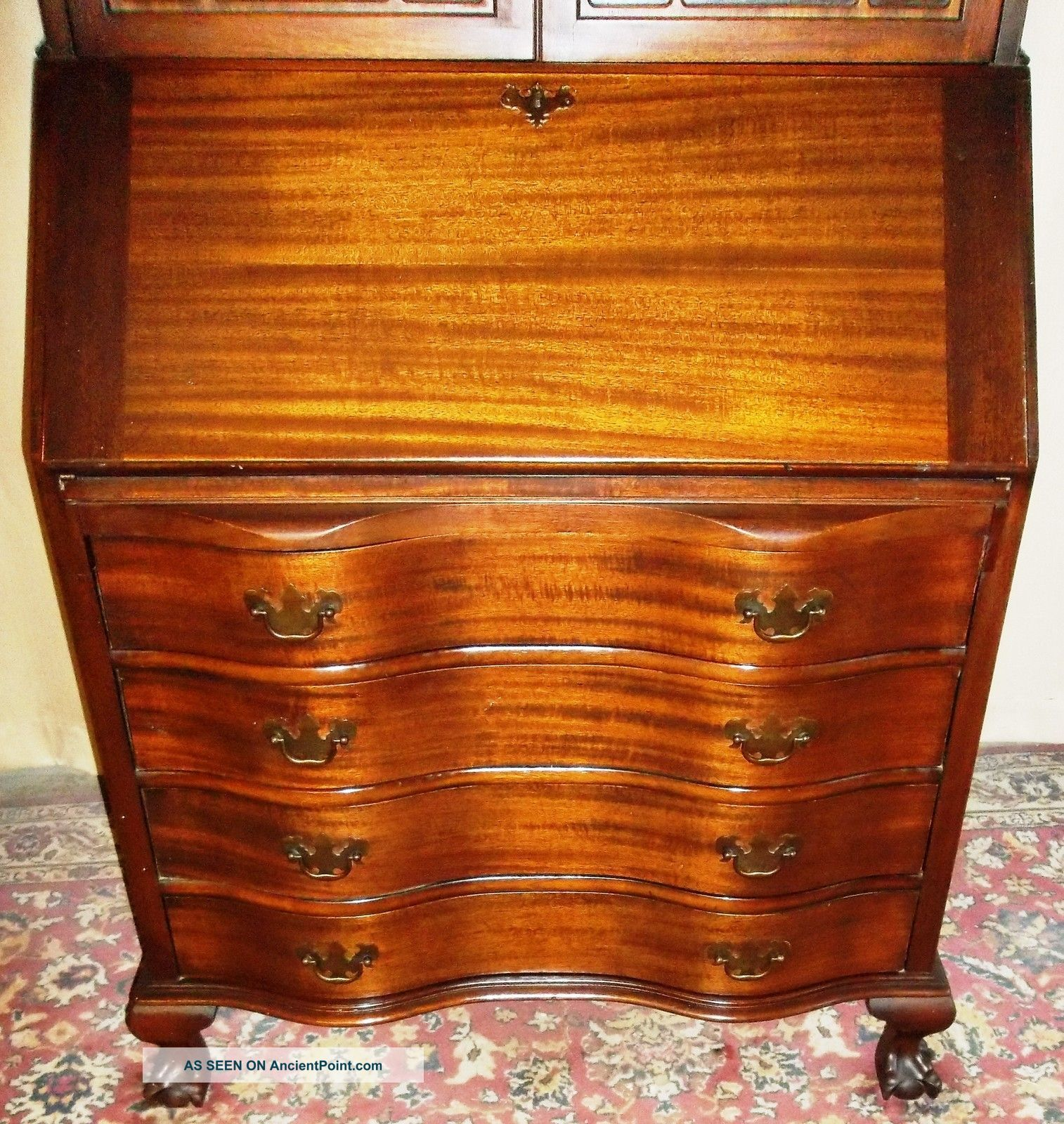 Antique Drawer Cabinet Antique Cherry Secretary Desk Foot Antique Maddox Mahogany