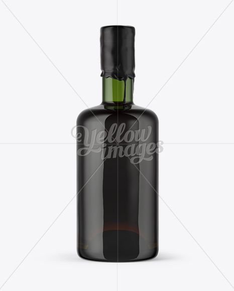 Green Glass Rum Bottle With Wax Top Mockup In Bottle Mockups On Yellow Images Object Mockups Rum Bottle Bottle Mockup Bottle