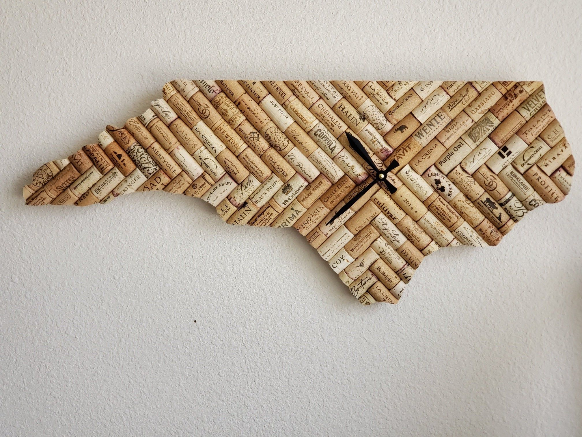 North Carolina Wine Cork Clock часы руки идеи