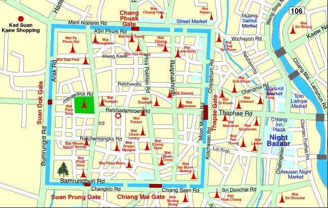 Chiang Mai Temples Map