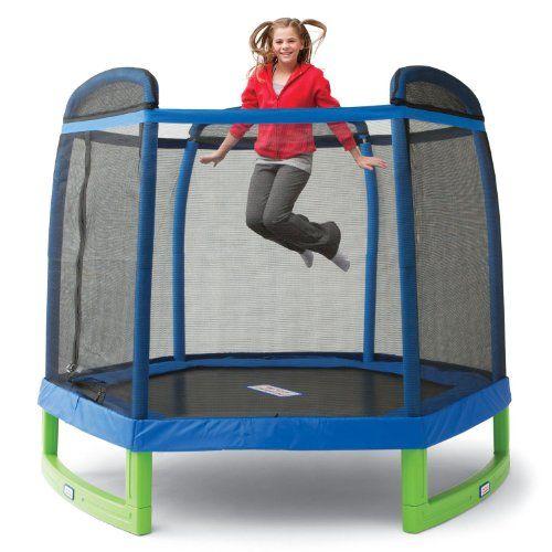 "My First Indoor/Outdoor Trampoline Combo with Enclosure - 88"" Trampoline,http://www.amazon.com/dp/B004JZJJ4U/ref=cm_sw_r_pi_dp_rriltb0QWCFTN8CE"