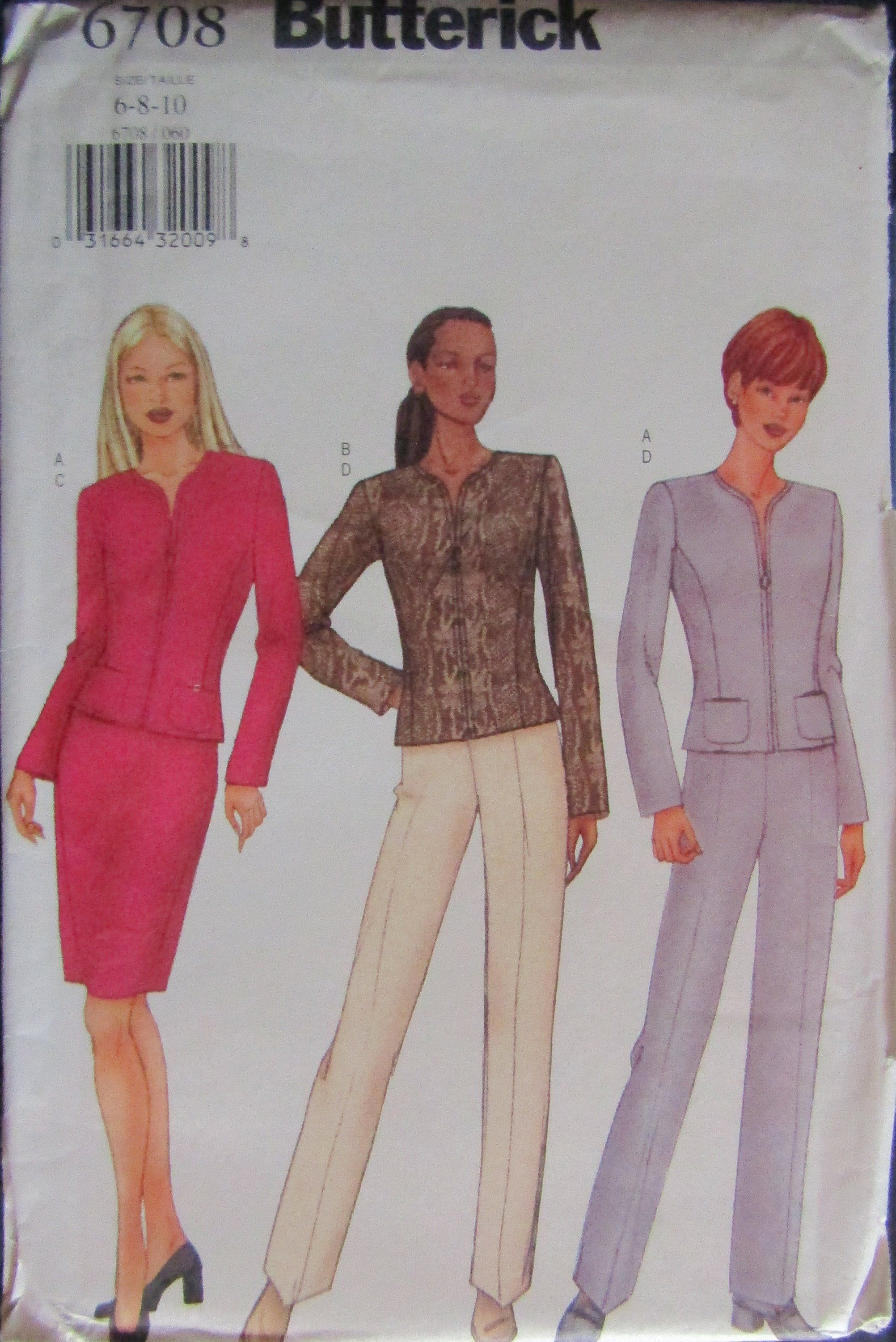 947a7c1534081 Butterick 6708 Misses Top, Skirt & Pants Sewing Pattern Size 6-10 Uncut by  SimpsonDesignsStudio on Etsy