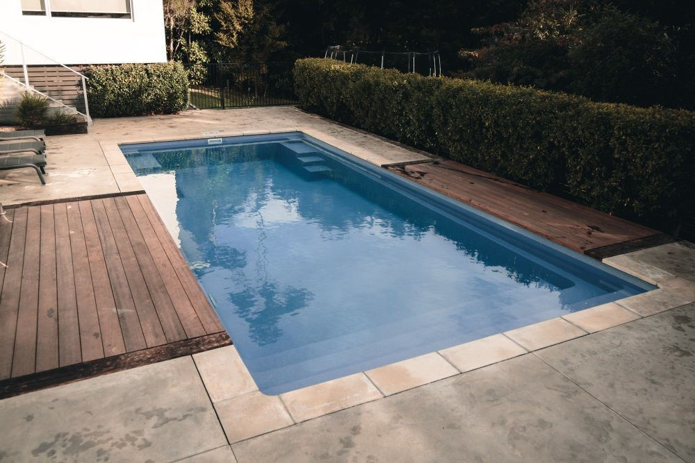 Grandeur 9 Blue Agate Inground Swimming Pool Narellan Pools Nz Pool Swimming Pools Inground Pool Designs