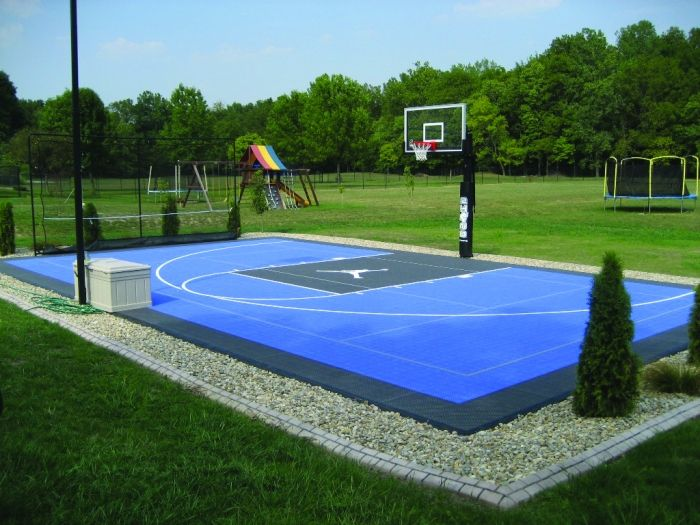 Blue jordan basketball court the river city news for How much does it cost to build a basketball court