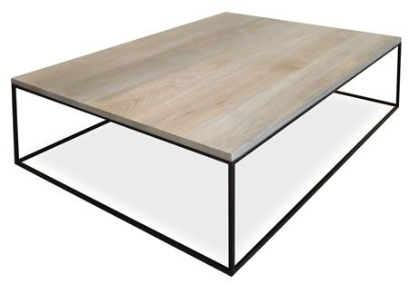 Product Products Beta Coffee Table with 22mm Titanium Oak Top